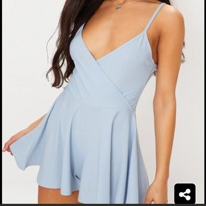 Pretty Little Thing Light blue romper